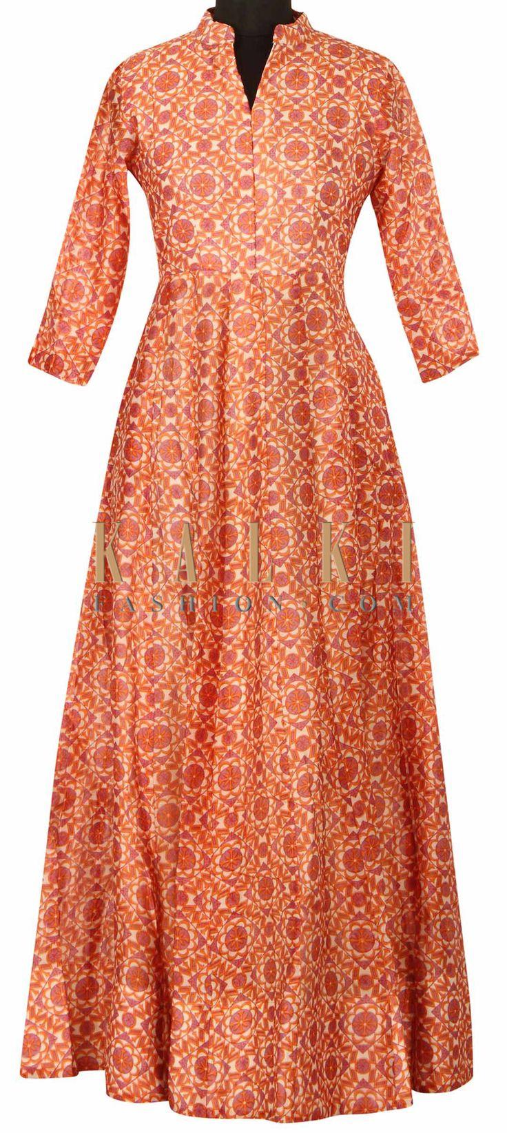 Multi color dress embellished in printed jall only on Kalki