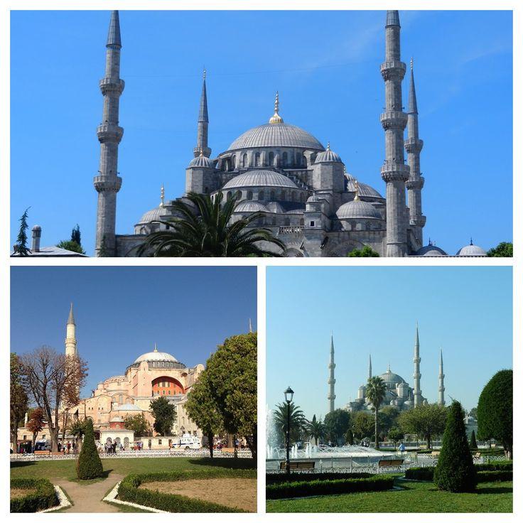 Isztambul fő nevezetességei az Aya Sofia múzeum és a Kék mecset http://istanbuliutazasok.hu/tags/L%C3%A1tnival%C3%B3k