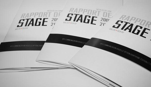 Rapport de stage on Behance