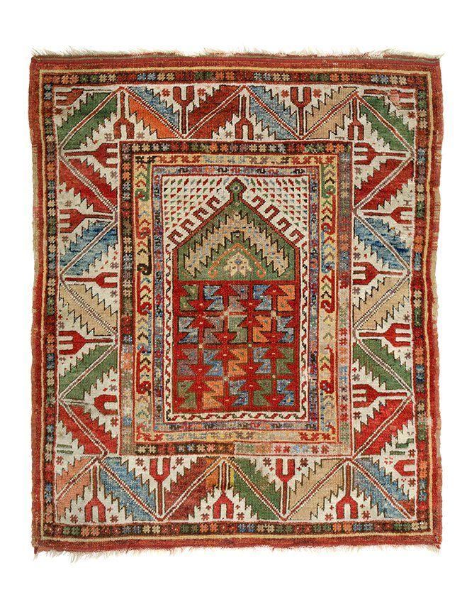 Melas prayer rug 4ft. 1in. x 3ft. 7in. Turkey circa 1850
