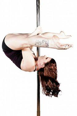 Girls on stripper pole