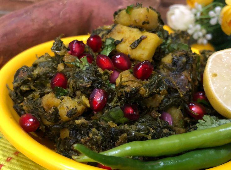 Sweet Potato with Fenugreek Leaves (Methi Sakarakandi Sabzi)
