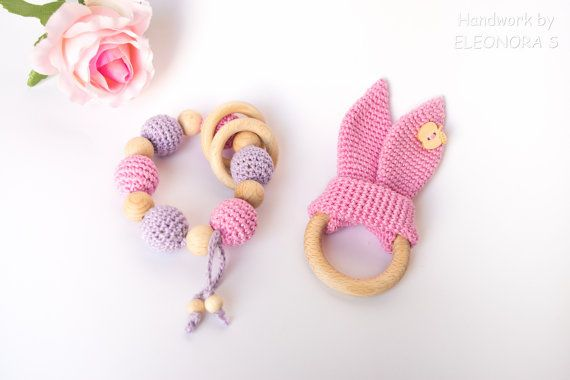 READY TO SHIP / Crochet baby toys /  Set of 2 by ILoveAmigurumi