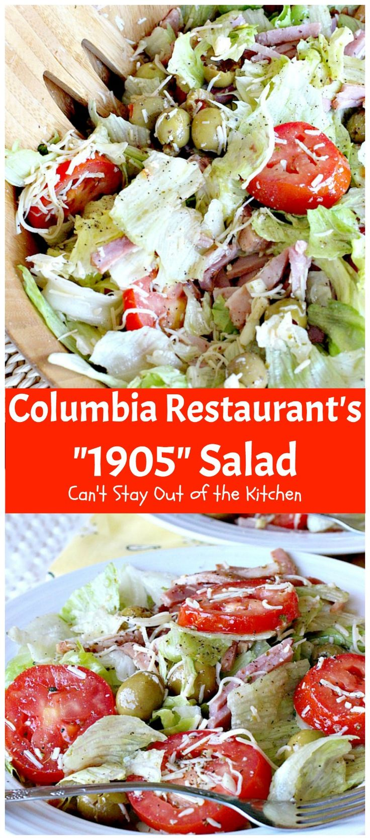 """Columbia Restaurant's """"1905"""" Salad   Can't Stay Out of the Kitchen   fabulous…"""