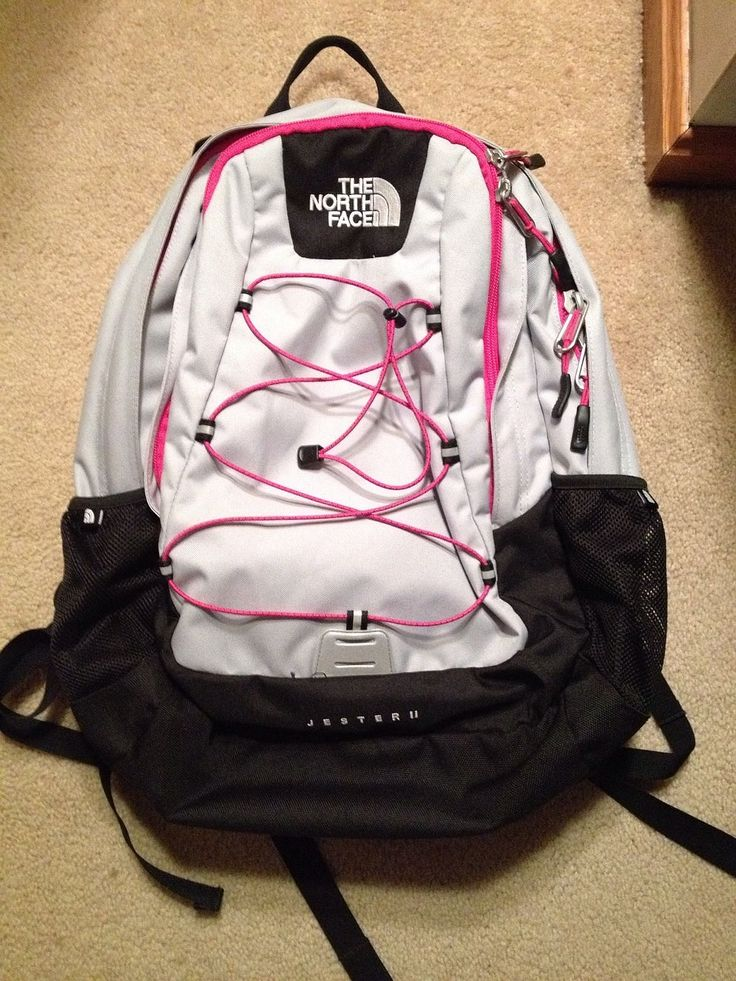 black and grey north face