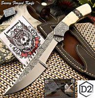 СФК руки столовые приборы с гравировкой D2 инструментальная сталь полный нож-верблюжьей кости Тан-ФО-2401