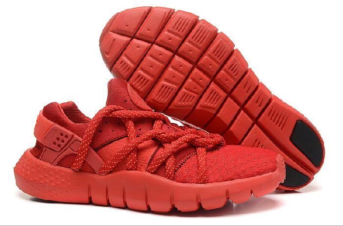 Gode di Un Paio del Mercato Nike Huarache in Vendita Rosso Pallacanestro Scarpe