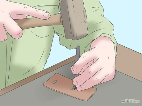 Emboss Leather, leather stamping, wikihow