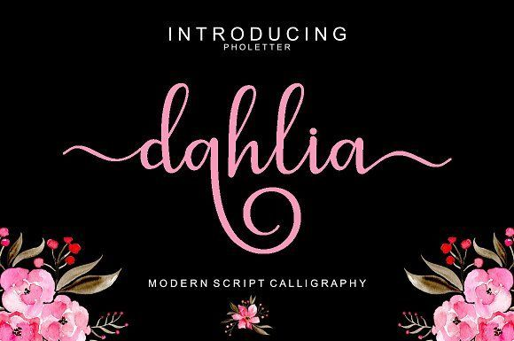 dahlia script by pholetter on @creativemarket