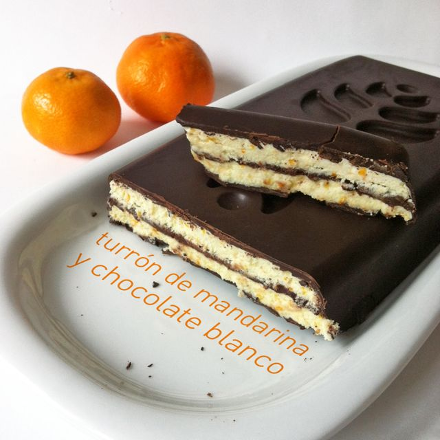 Biscayenne: Turrón de mandarina y chocolate blanco a la Gorrotxategi