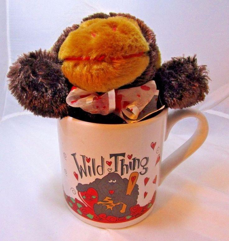 """WILD THING Plush DanDee 8"""" Gorrilla & Oversized Coffee Mug NEW Valentine's Gift #DanDee"""