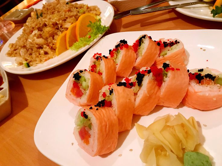 Rainbow Sushi.