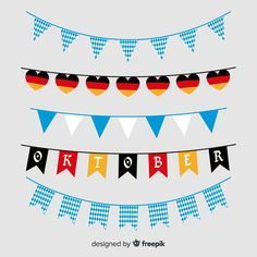 Flat design oktoberfest garland collection. Download for free at freepik.com now…