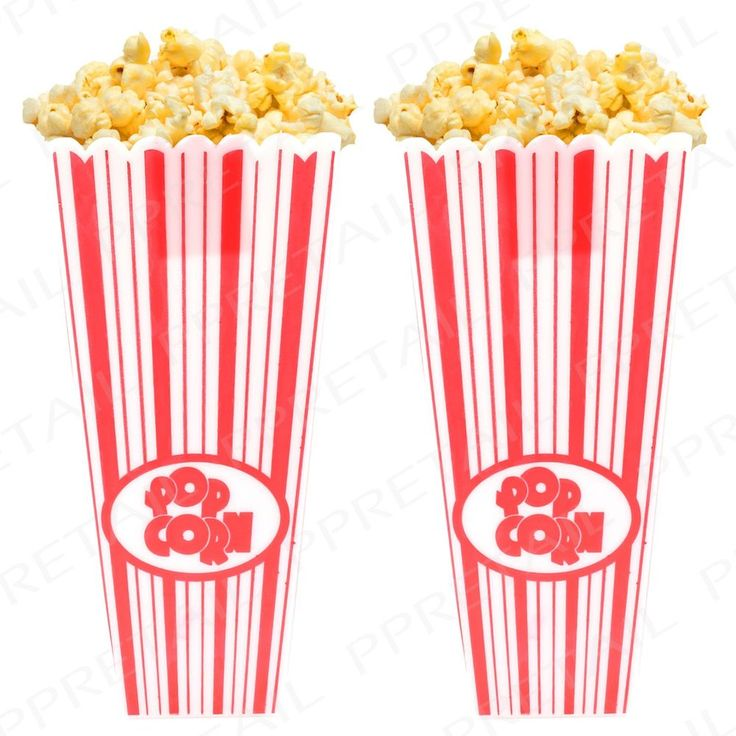 Popcorn tubs for garden cinema