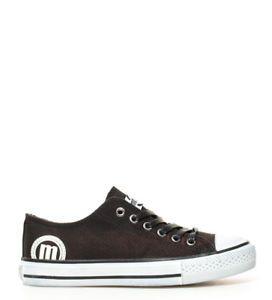 a mustang zapatillas trend low negro desgastado mujer chica