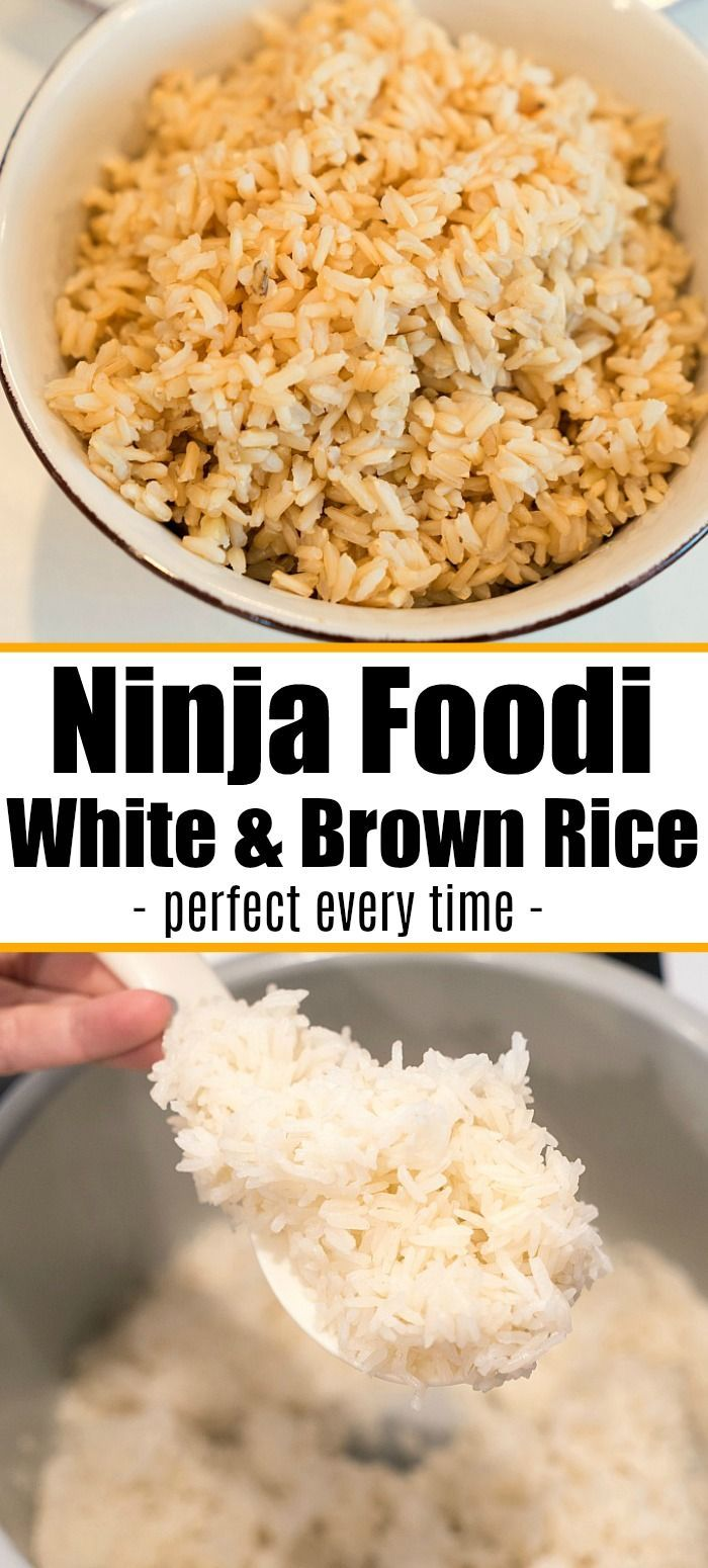 Ninja Foodi Rice Both Brown And White Is Easy To Make Here Are Tips On How To Make The Best Pressure Cooker Rice So It S Done Fluf Recipes Foodie Recipes Food
