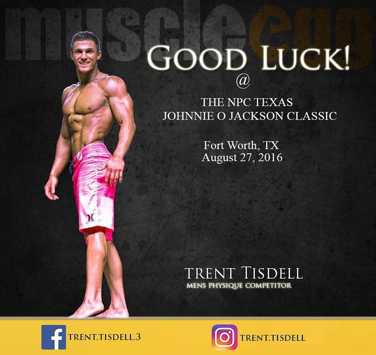 Shout out and good luck to our  @muscleegg athlete  Trent Tisdell @trent.tisdell  Who will be competing this weekend at the Johnnie O Jackson Classic in Fort Worth TX.  #athlete #physique #npc #ifbb #goodluck #teammuscleegg