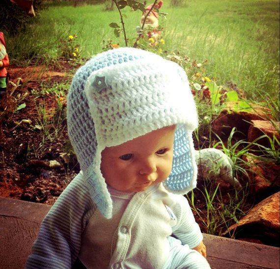 Hand crochet russian style hat by Handcraftforbabies on Etsy