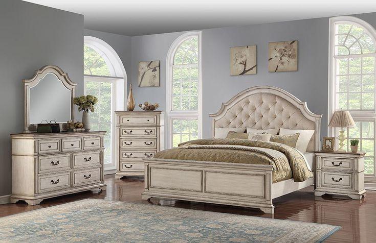 Best Anastasia Antique White King Bedroom Set In 2020 Bedroom 400 x 300