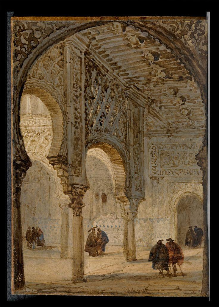 Museo Nacional del Prado: Visor interactivo: Interior del Alcázar de Sevilla antes y después de la restauración