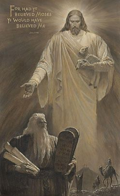 The Light and the Law - Arnold Friberg The biblical quotation in this picture was DeMille's favorite scripture because it tied the Old and New Testaments together.