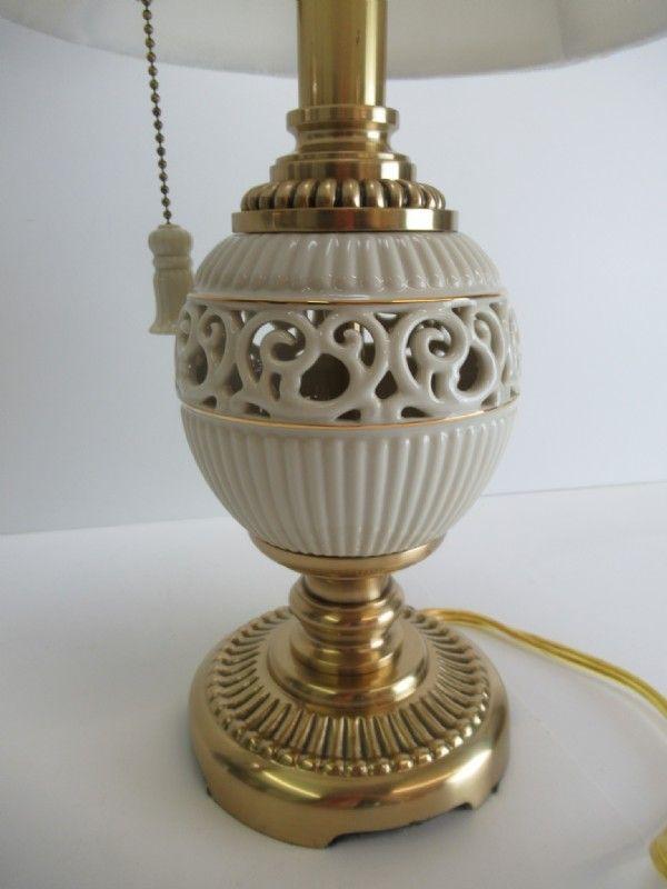 Lenox Quoizel Accent Lamp Cream Brass Tone Shopgoodwill Com Lamp Accent Lamp Quoizel