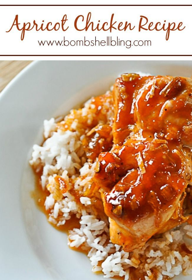 This apricot chicken recipe looks amazingly simple and super yummy!