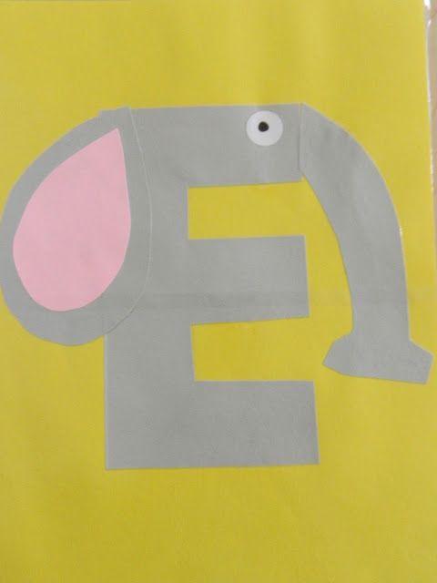 preschool letter E