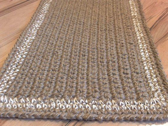 Crochet With Jute Twine | Unique Doormat Crochet Jute Rope Door Rug Handmade