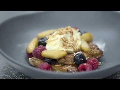 Apple Crumble French Toast with Vanilla Mascarpone - Goodman Fielder Food Service Recipes - YouTube
