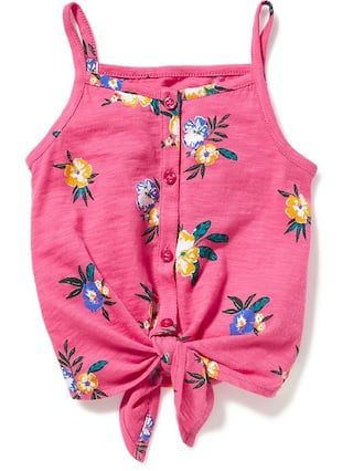 Tie-Front Cami for Toddler Girls