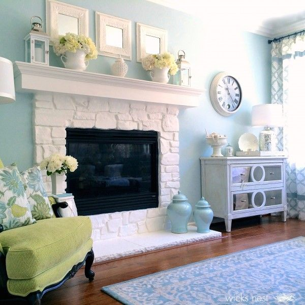 Beautiful stone fireplace eclecticallyvintage.com