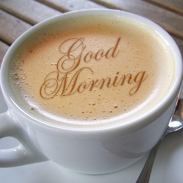 ¡Buenos días con cafeína! Imagen gratis en Pixabay de Geralt- Taza, Café, Espuma, Café Au Lait
