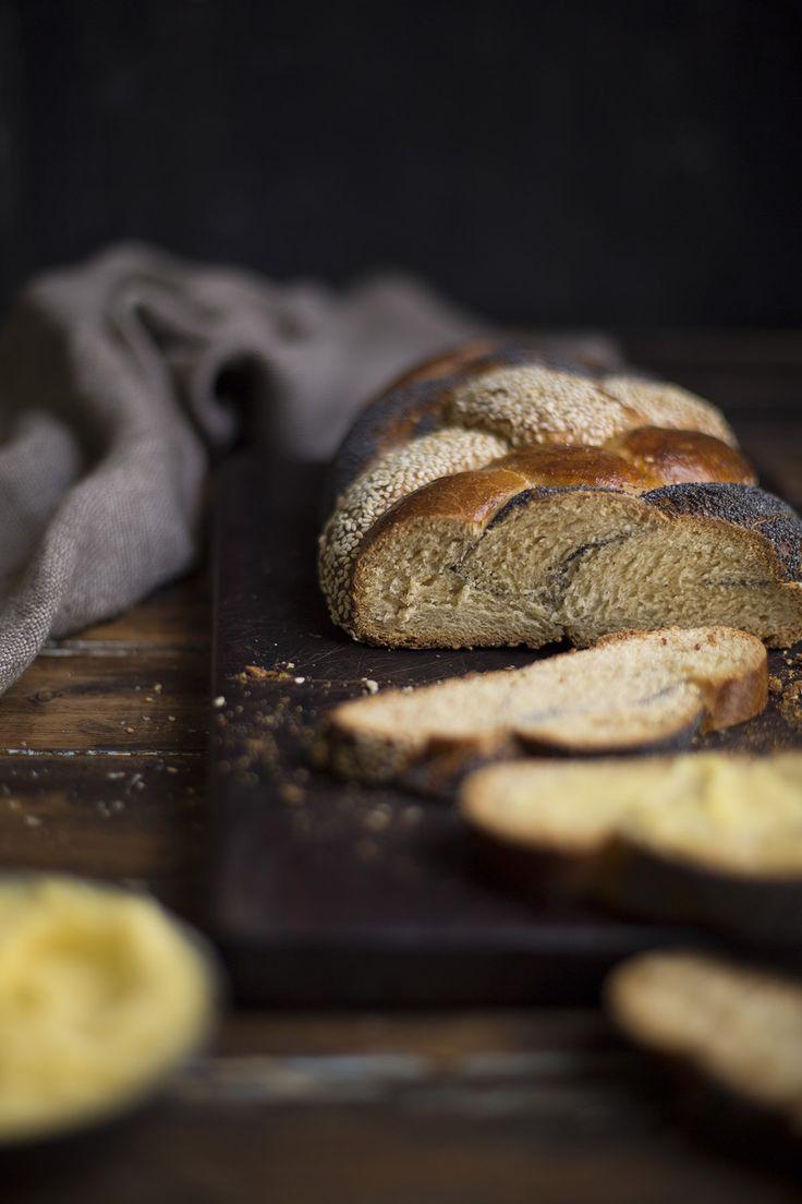 six strand braided honey bread /