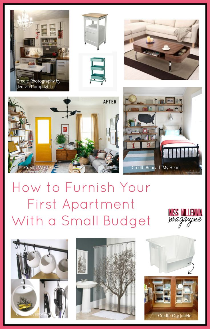 Moving out of your parents home or upgrading from your dorm room is a daunting task. Not only do you have to worry about paying rent and utilities; chances are you're probably lacking a lot of the basic necessities you to need start off! http://missmillmag.com/furnish-first-apartment-budget/