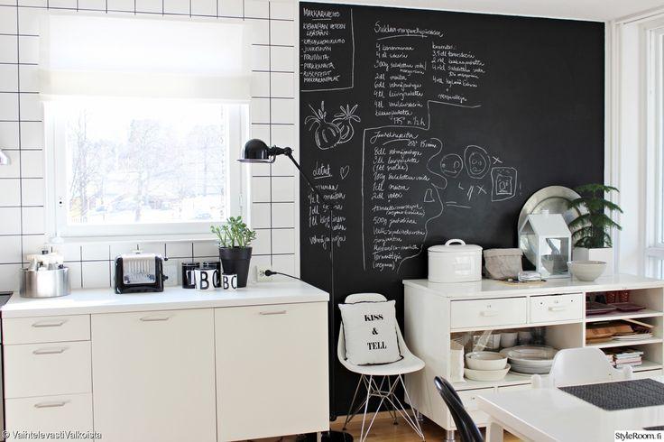 liitutaulu,liitutauluseinä,jielde,jielde loft,eames,eames dsr,ikea keittiö,dualit,vanha tiski,keittiö
