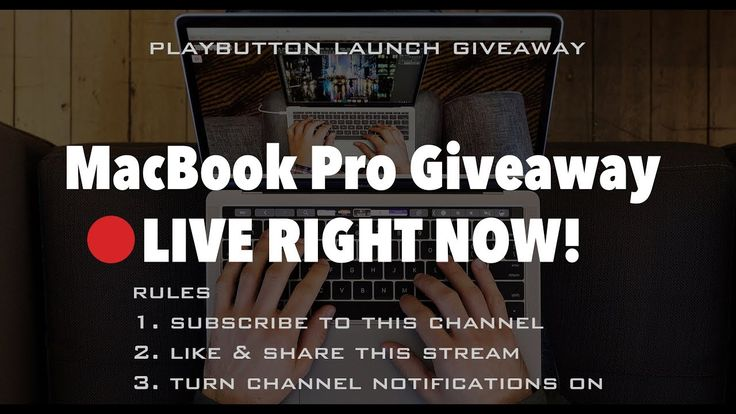 """🔥 FREE MACBOOK PRO Giveaway LIVE - Win a 13"""" MacBook Pro and IPHONE 7 Giveaway *** LIVE NOW *** 🔥 - YouTube"""