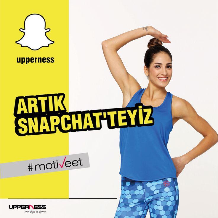 Upperness artık Snapchat'te ✌️ Aktif bir şekilde olmak için bizi takip et Sizleri her zamanki gibi hep #MOTİVEET sloganımızla daha hareketli bir yaşam tarzına yönlendirmeye çalışacağız. Güzel projeler ve süprizler yolda❤️