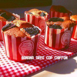 バナナ&オレオのカップシフォン Banna & Oreo Cup Chiffon