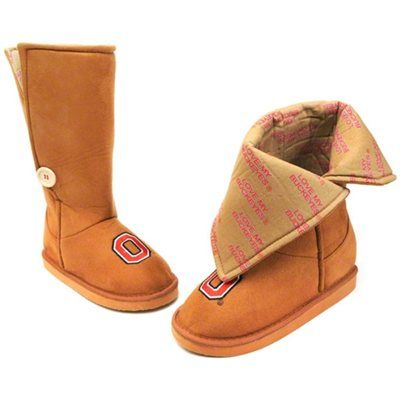 Ohio State Buckeyes Womens Micro Suede Campus Boot