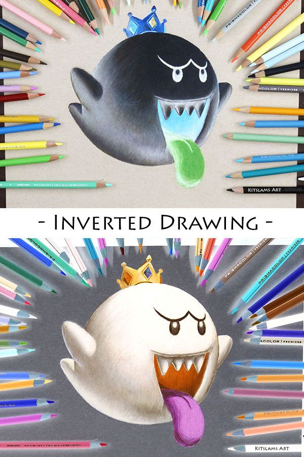Inverted Drawing Of King Boo Inverteddrawing Of Kingboo