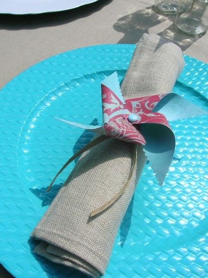 Cute Alert! Cute Alert! Check Out These Pinwheel Wedding Accents!