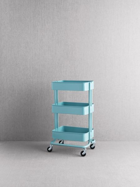 "RÅSKOG was inspired by industrial carts, like the ones you used to find in factories. I like the fact that it's almost like a tool in its own right. It's a real do-everything cart that you can wheel around your home."" IKEA Designer Nike Karlsson - Cart price is $49.99"
