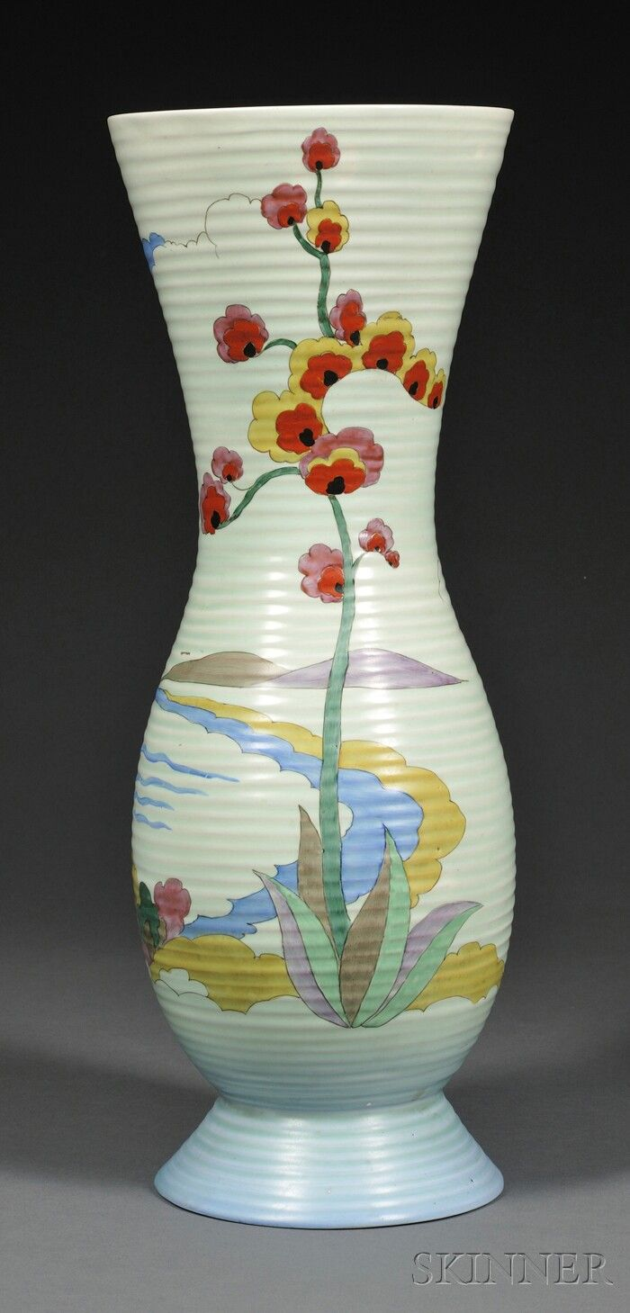 500 best clarice cliff images on pinterest clarice cliff large clarice cliff art pottery vase art deco pottery staffordshire england 1930s reviewsmspy