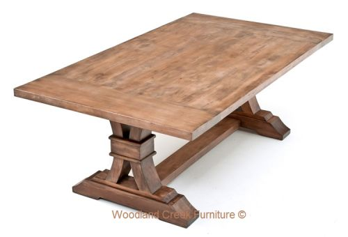 Elegant Rustic Table by Woodland Creek.  Available custom sizes and colors.