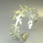 Leaf Bangle. reminds me of something in my sketchbook (really should get my saw out)