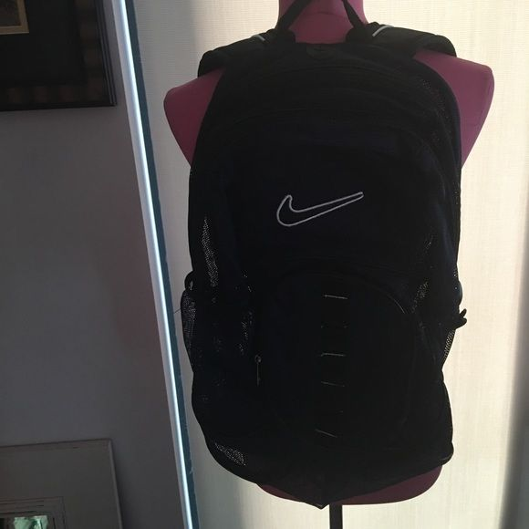 Nike Mesh Backpack Nike Mesh Backpack.  Large pocket inside.   Navy Blue.  Semi sheer Nike Bags Backpacks