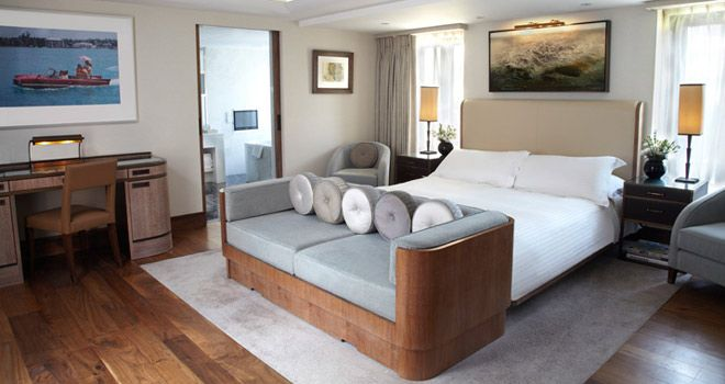 terrace suite at the Connaught hotel. A beautiful luxury 2 bedroom suite.