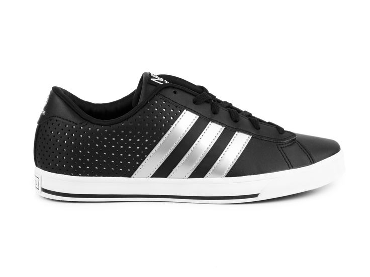 Adidas Neo - Tenisky Se Daily Qt Lo W Q26251 / černo-stříbrná