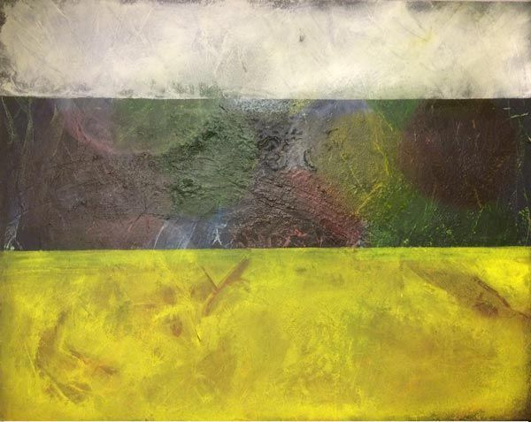 Lasur-Ebenen ... Acryl auf Leinwand ... 80 x 100 cm